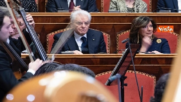 1 - Mattarella e le massime autorità dello Stato al concerto di Natale al Senato della Repubblica