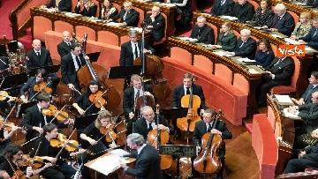 4 - Mattarella e le massime autorità dello Stato al concerto di Natale al Senato della Repubblica