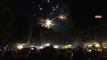 7 - Lo spettacolo dei fuochi d'artificio alla festa per il 4 luglio dell'ambasciata Usa