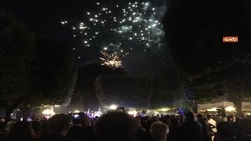 3 - Lo spettacolo dei fuochi d'artificio alla festa per il 4 luglio dell'ambasciata Usa