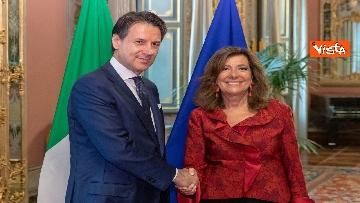 2 - Conte incontra la presidente del Senato Casellati