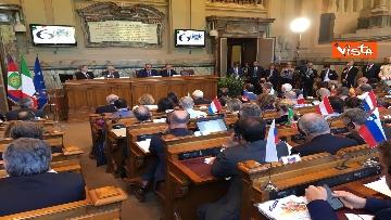 8 - Mattarella a riunione annuale Cnel europei a Roma immagini