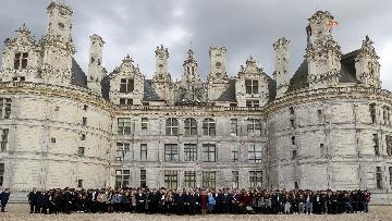 6 - Italia-Francia, Mattarella e Macron insieme al castello di Chambord