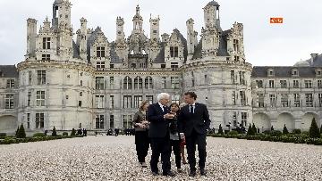 4 - Italia-Francia, Mattarella e Macron insieme al castello di Chambord