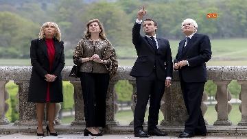7 - Italia-Francia, Mattarella e Macron insieme al castello di Chambord