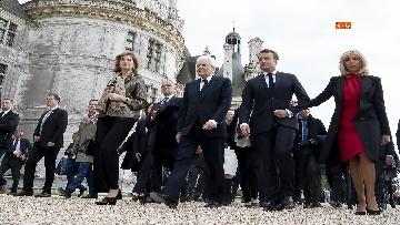 5 - Italia-Francia, Mattarella e Macron insieme al castello di Chambord
