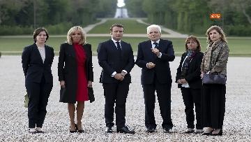 8 - Italia-Francia, Mattarella e Macron insieme al castello di Chambord