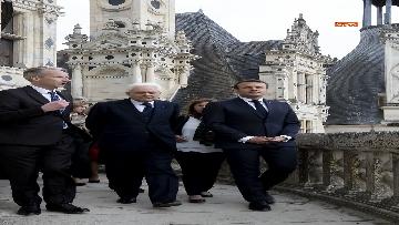 3 - Italia-Francia, Mattarella e Macron insieme al castello di Chambord