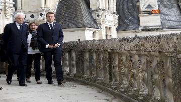 2 - Italia-Francia, Mattarella e Macron insieme al castello di Chambord