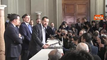 7 - Salvini al Quirinale per le Consultazioni insieme a Giorgetti e Centinaio