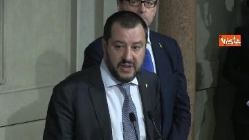 10 - Salvini al Quirinale per le Consultazioni insieme a Giorgetti e Centinaio