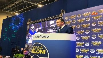 5 - Il candidato del centrodestra in Piemonte Alberto Cirio partecipa al congresso FdI