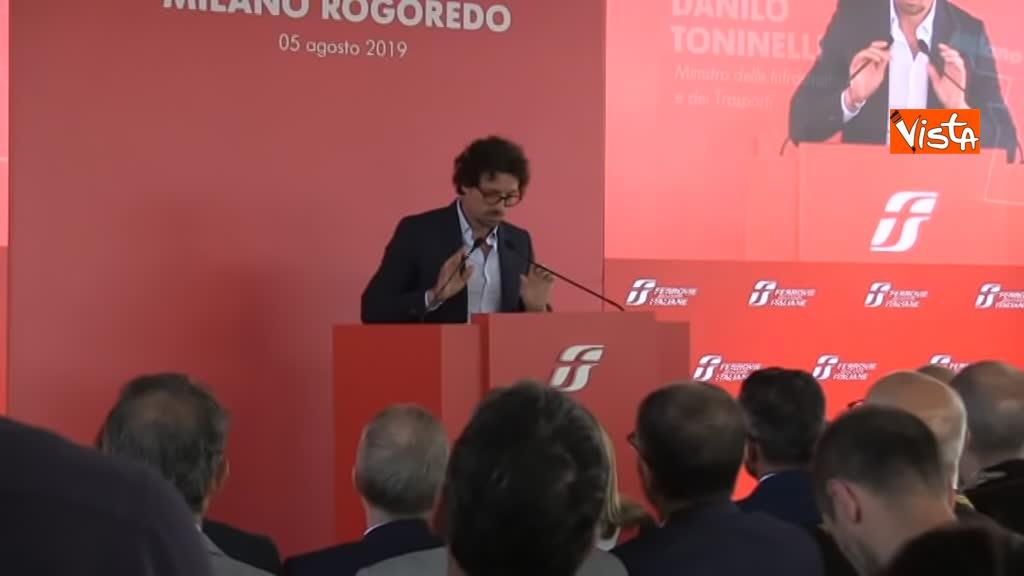 05-08-19 Hub Milano Rogoredo Fs presenta potenziamento con Battisti Toninelli Salvini_Il ministro dei Trasporti Toninelli_10