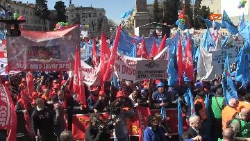 4 - La protesta dei sindacati edili a Roma