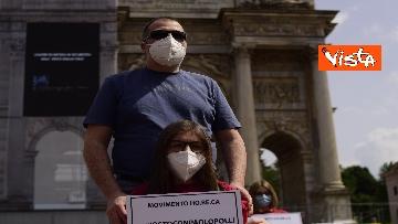 """1 - Flash Mob Arco della Pace Milano, il ristoratore in sciopero della fame: """"Serve taglio tasse"""""""