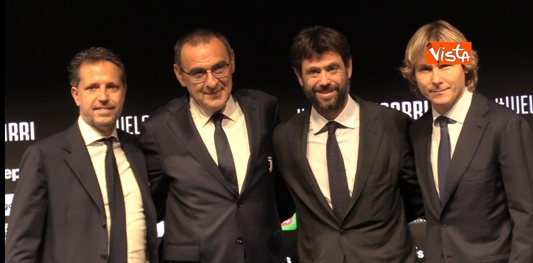 Sarri in conferenza stampa allo Juventus Stadium