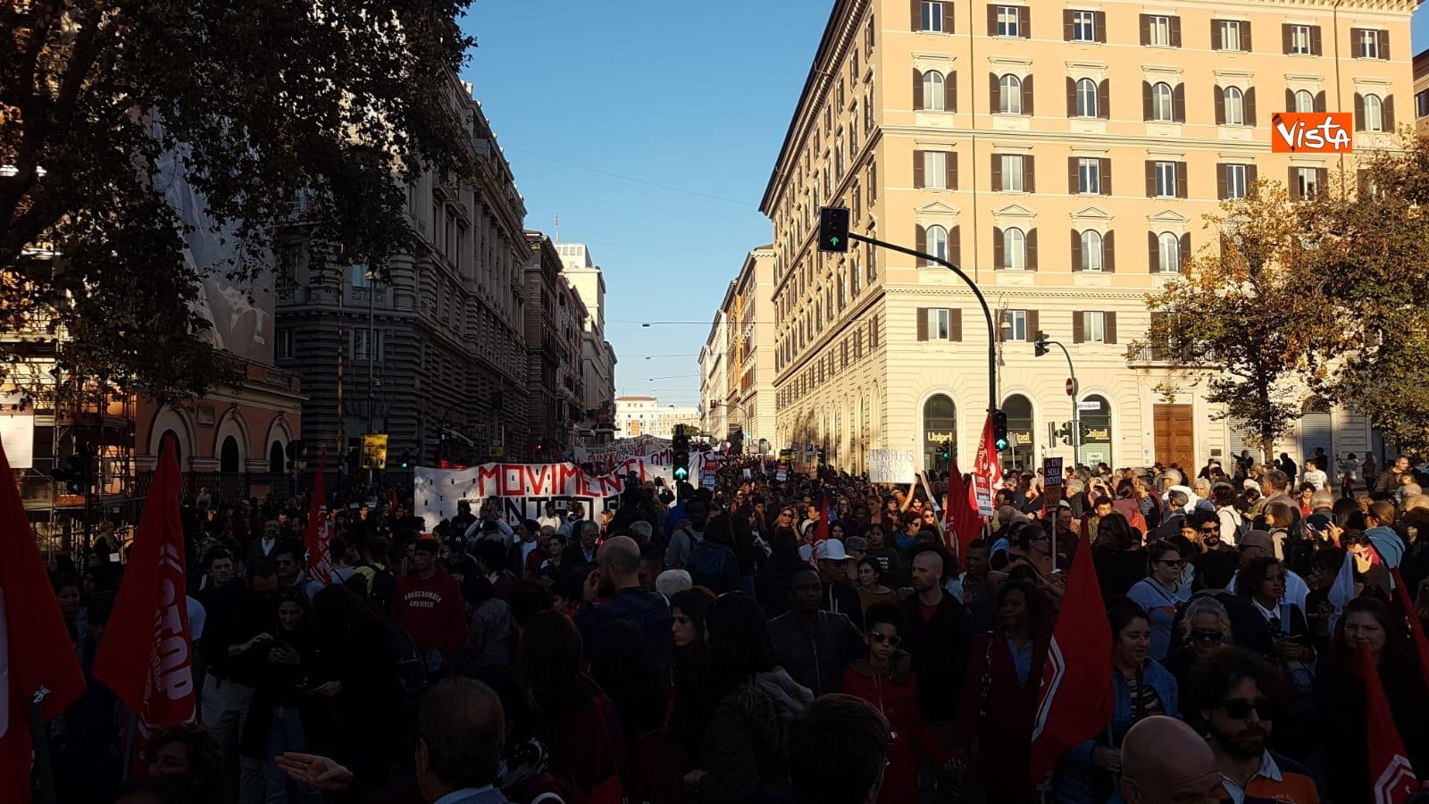 La manifestazione contro il dl Salvini a Roma_09