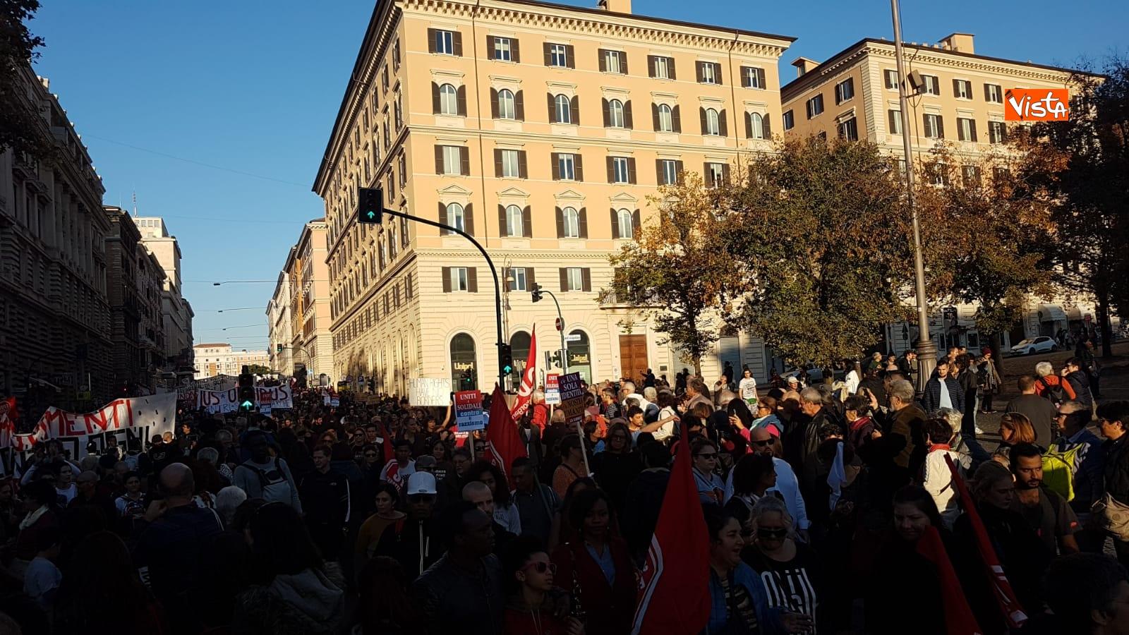 La manifestazione contro il dl Salvini a Roma_05