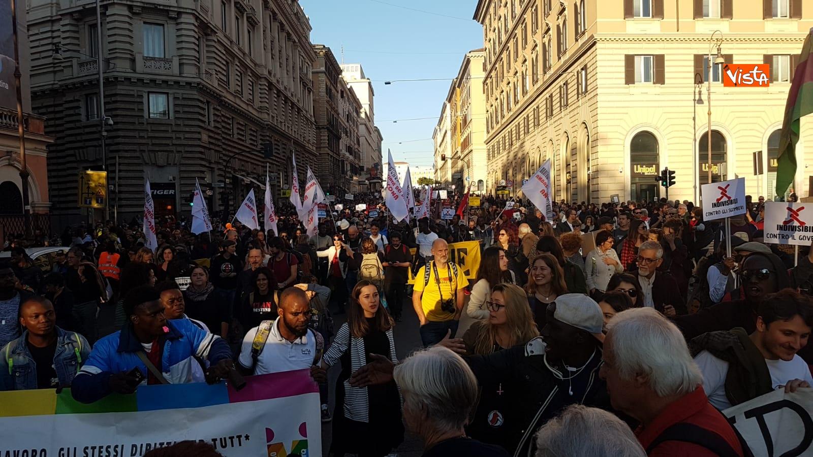 La manifestazione contro il dl Salvini a Roma_04