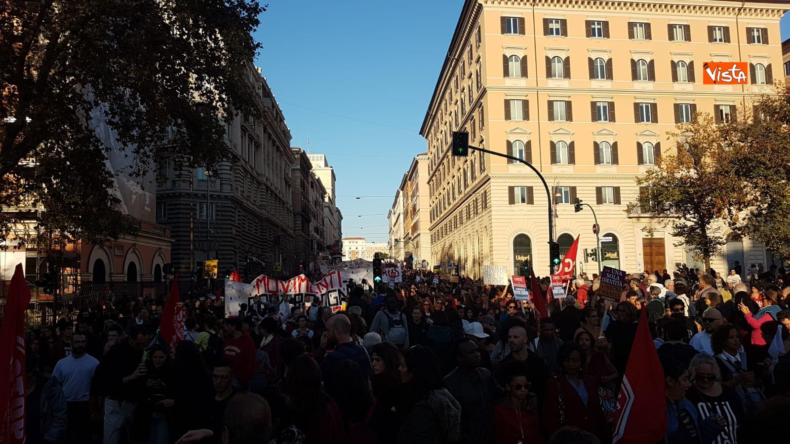 La manifestazione contro il dl Salvini a Roma_10