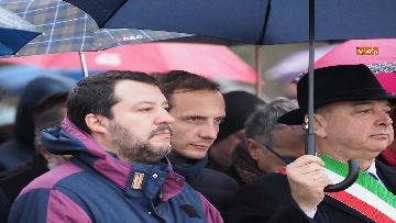 1 - Il ministro Salvini alla Foiba di Basovizza
