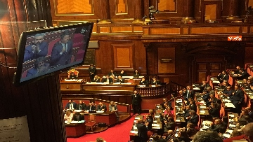 13 - L'intervento di Matteo Renzi al Senato dopo il discorso di Donte