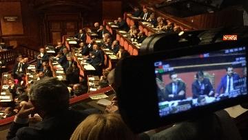 10 - L'intervento di Matteo Renzi al Senato dopo il discorso di Donte