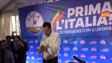 1 - Salvini in conferenza stampa dopo i risultati delle elezioni europee