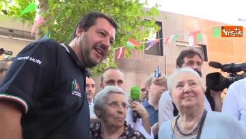 6 - Il ministro dell'Interno Matteo Salvini all'Opera Cardinal Ferrari Onlus a Milano