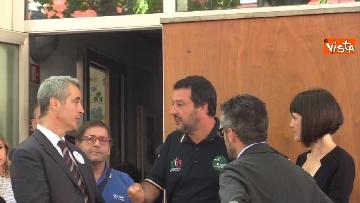 2 - Il ministro dell'Interno Matteo Salvini all'Opera Cardinal Ferrari Onlus a Milano