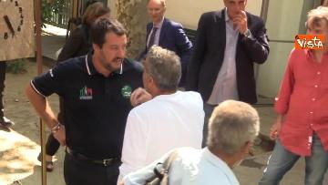 3 - Il ministro dell'Interno Matteo Salvini all'Opera Cardinal Ferrari Onlus a Milano