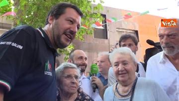 7 - Il ministro dell'Interno Matteo Salvini all'Opera Cardinal Ferrari Onlus a Milano