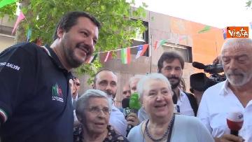 8 - Il ministro dell'Interno Matteo Salvini all'Opera Cardinal Ferrari Onlus a Milano