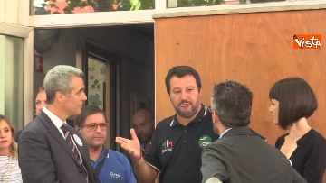1 - Il ministro dell'Interno Matteo Salvini all'Opera Cardinal Ferrari Onlus a Milano