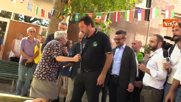 4 - Il ministro dell'Interno Matteo Salvini all'Opera Cardinal Ferrari Onlus a Milano