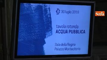 9 - Acqua pubblica, la tavola rotonda a Montecitorio con Fico