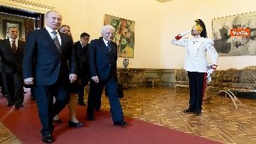 10 - Mattarella riceve Putin in visita ufficiale al Quirinale