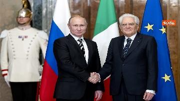 7 - Mattarella riceve Putin in visita ufficiale al Quirinale