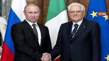 8 - Mattarella riceve Putin in visita ufficiale al Quirinale
