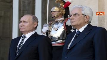 2 - Mattarella riceve Putin in visita ufficiale al Quirinale