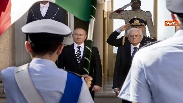 3 - Mattarella riceve Putin in visita ufficiale al Quirinale