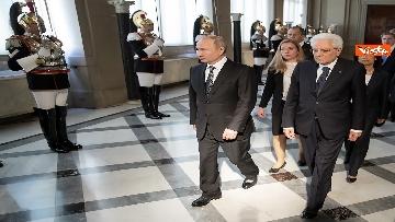 9 - Mattarella riceve Putin in visita ufficiale al Quirinale