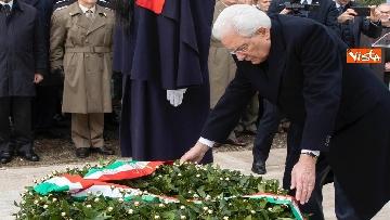 8 - Il Presidente Mattarella al 75esimo anniversario della battaglia di Monte Lungo