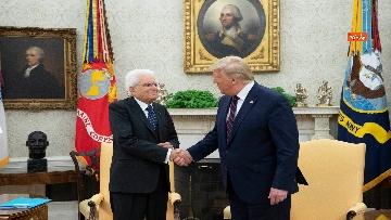 1 - Mattarella con Trump nello Studio Ovale