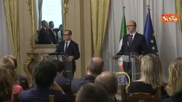 1 - Tria e Moscovici in conferenza al Mef