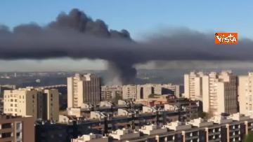 7 - Incendio al TMB di via Salaria, le impressionanti immagini della colonna di fumo