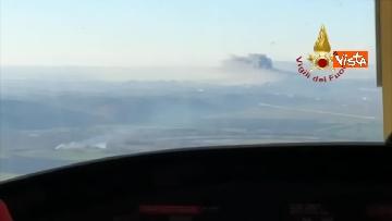 4 - Incendio al TMB di via Salaria, le impressionanti immagini della colonna di fumo