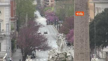 6 - Pasquetta in zona rossa a Roma, controlli a tappeto e piazze semivuote in centro