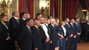 12 - Giuramento, il nuovo governo posa per la foto con Mattarella