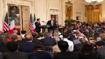 8 - Trump e Conte in conferenza stampa alla Casa Bianca